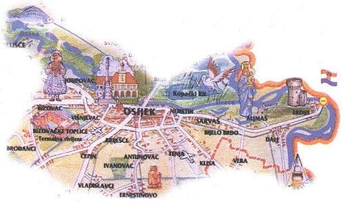 Zajednica ŠRD Osijek - Karta područja